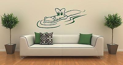 Wall Stickers Vinyl Decal Crocodile Funny Animal Predator ig1313