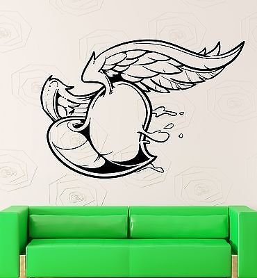 Wall Sticker Vinyl Decal Heart with Wings Love Romantic Bedroom Decor 1844