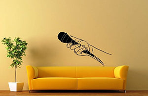 Wall Stickers Vinyl Decal Microphone Music Media Journalist Interview ig1574