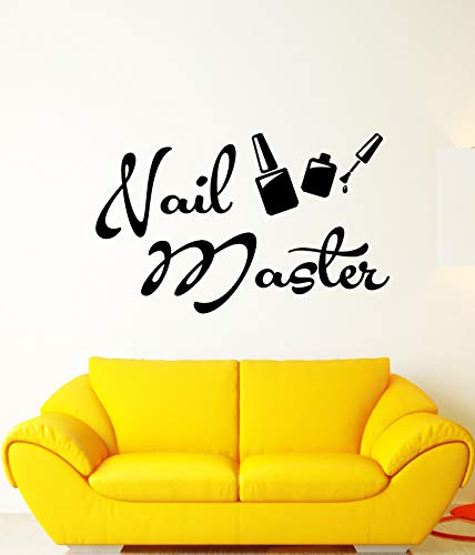 Vinyl Wall Decal Nail Master Manicure Signboard Logo Salon Stickers 2401