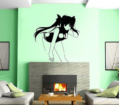 Hentai Hi-Manga Art Naked Sexy Oriental Girl Wall Art Decor Vinyl Sticker z238