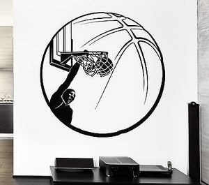Wall Stickers Basketball Ring Ball Sports Fans Vinyl Decal 635