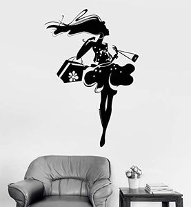 Vinyl Wall Decal Shopping Stores Shop Fashion Stickers 1022