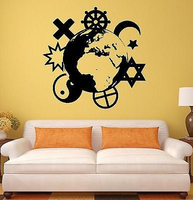 Wall Stickers Religions Christianity Islam Buddhism Mural Vinyl Decal 1943
