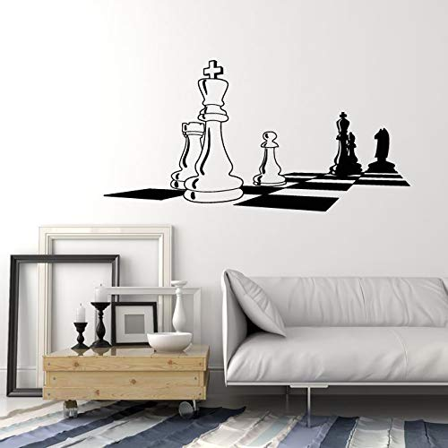 Vinyl Wall Decal Chess Chessboard Black White Intellectual Game Stickers 1673ig