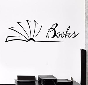 Vinyl Wall Decal Library Books Bookstore Reader Book Shop Stickers 730