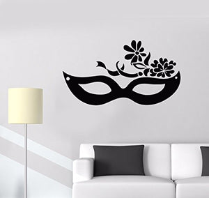Vinyl Wall Decal Mask Carnival Masquerade Party Stickers Mural 587