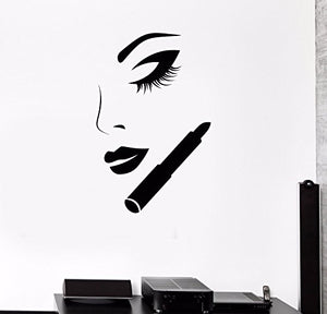 Vinyl Wall Decal Beauty Salon Shop Fashion Makeup Cosmetics Stickers 582