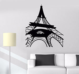 Vinyl Wall Decal Eiffel Tower Paris French Style Girl Room Stickers 623