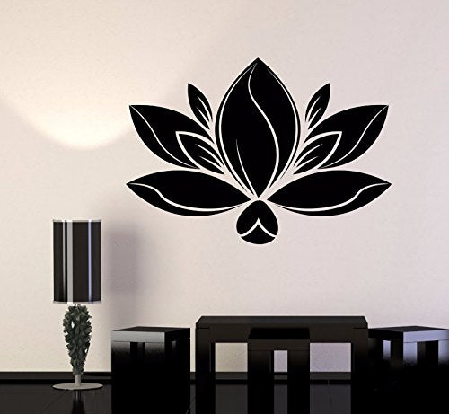Vinyl Wall Decal Lotus Flower Meditation Yoga Spa Center Stickers 1092