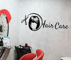 Wall Stickers Hair Care Beauty Salon Spa Barbershop Stylist Vinyl Decal 1981