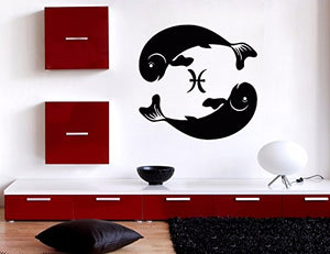 Vinyl Decal Wall Sticker Pisces Symbol of Duality Zodiac Sign n906