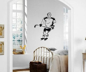 Wall Stickers Vinyl Decal Ice Hockey Winter Sports Athlete ig1496