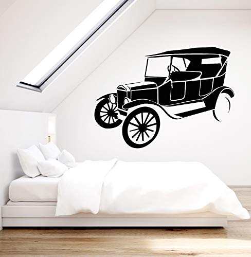 Vinyl Wall Decal Retro Car Vintage Style Decor Auto Repair Stickers 2436