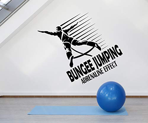 Vinyl Wall Decal Bungee Jumping Jumper Logo Extreme Sport Stickers 2547