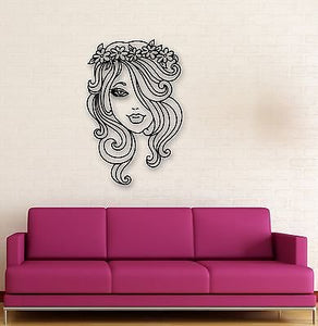 Wall Stickers Vinyl Decal Hot Sexy Girl Wreath on Head Great Design 636