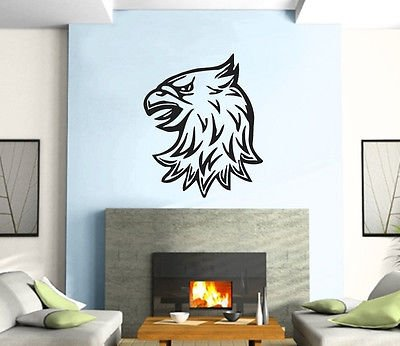Eagle Head Symbol Animal Decor Mural Wall Art Decor Vinyl Sticker z383