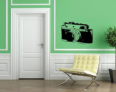 Old Camera Photography Pictures Wall Decor Mural Vinyl Decal Art Sticker M558