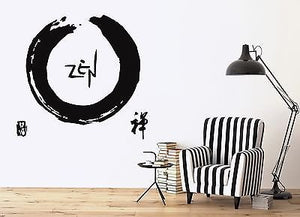 Wall Vinyl Sticker Graphic Symbol of Zen Buddhism Decor n208