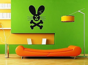 Wall Stickers Vinyl Decal Angry Rabbit Bone Death ig1619