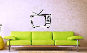 Wall Vinyl Decal Old TV Nostalgia Funny Modern Decor ig1503