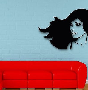 Wall Stickers Vinyl Decal Hot Sexy Girl Hair Beauty Spa Salon 674