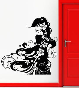 Wall Stickers Vinyl Decal Geisha Hot Sexy Oriental Girl 503