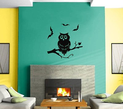 Owl Night Bird Ghost Kids Funny Mural Wall Art Decor Vinyl Sticker z458