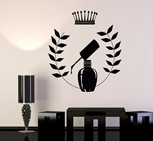 Vinyl Wall Decal Manicure Nail Salon Beauty Woman Girl Fashion Stickers 157