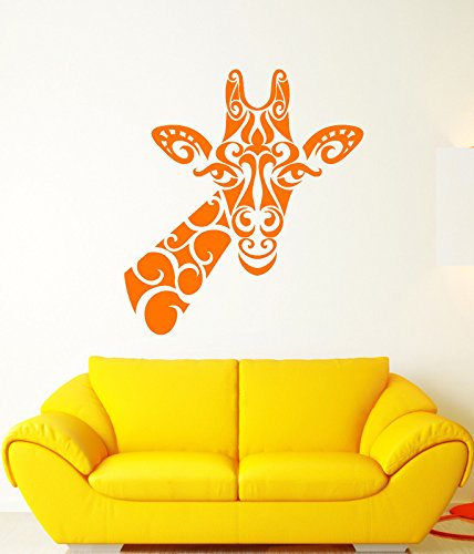 Vinyl Wall Decal Abstract Giraffe African Animal Head Stickers 2411