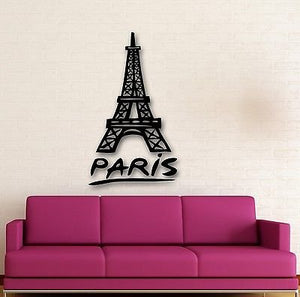 Wall Stickers Vinyl Decal Paris France Eiffel Tower Romantic Travel 670