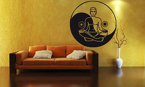 Yoga Zen Mantra Healthy Life Mural Wall Art Decor Vinyl Sticker z720