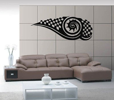 Checked Mark Symbol Emblem Urban Art Mural Wall Art Decor Vinyl Sticker z332