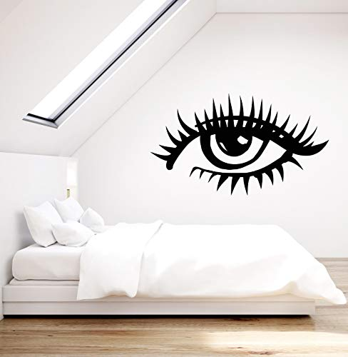Vinyl Wall Decal Girl Eye Woman Eyelashes Stickers 2265