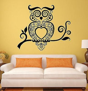 Wall Stickers Owl Bird Tribal Art Living Room Mural Vinyl Decal 1925