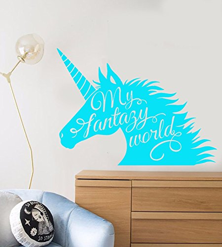 Vinyl Wall Decal Unicorn Fantasy Fairy Tale Children's Room Stickers 1094
