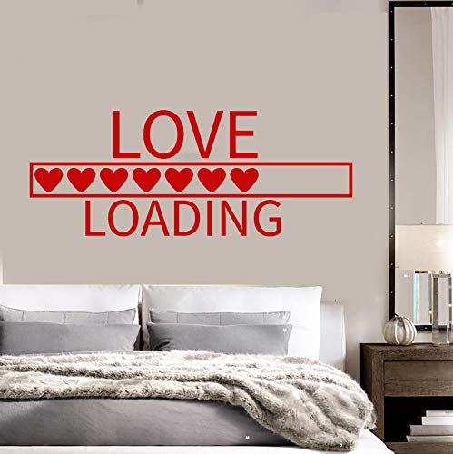 Vinyl Wall Decal Love Download Loading Romance Bedroom Decor Stickers 1470