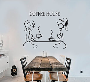 Vinyl Wall Decal Coffee House Coffee Restaurant Decor Logotype Stickers 2507
