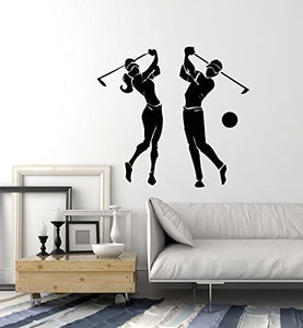 Vinyl Wall Decal Golf Club Sport Players Man and Woman Stickers 2526