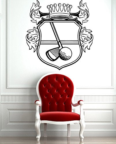 Golf Clubs Ball Sign Simbol Sport Decor Wall Mural Vinyl Art Sticker z811