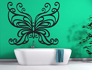 Wall Vinyl Sticker Mural Big Butterfly Wings Chic Home Decor n531