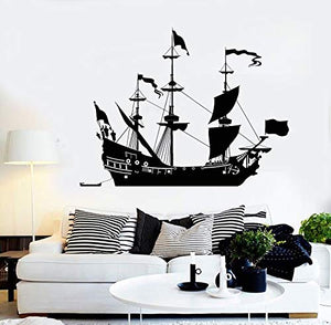 Vinyl Wall Decal Ship Sail Boat Sailor Sea Style Home Decor Stickers 1045