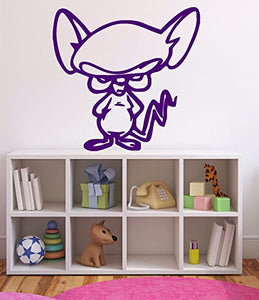 Vinyl Decal Cartoon Character Mouse Jerry got Angry Wall Sticker n620