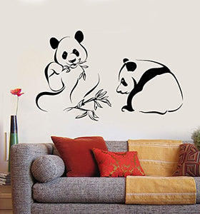 Vinyl Wall Decal Panda Bears Asian Bamboo Chinese Animals Stickers 1963