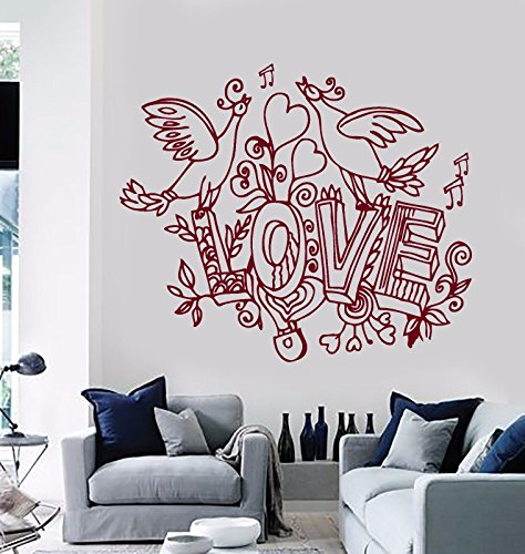 Vinyl Wall Decal Love Birds Romance Home Room Decor Stickers 352
