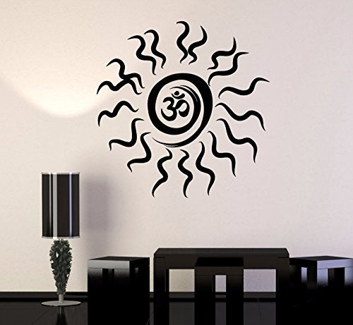 Vinyl Wall Decal Sun Om Mandala Mantra Hinduism Stickers 328