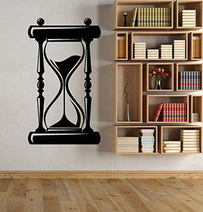 Vinyl Wall Decal Hourglass Sandglass Vintage Watch Stickers 2295