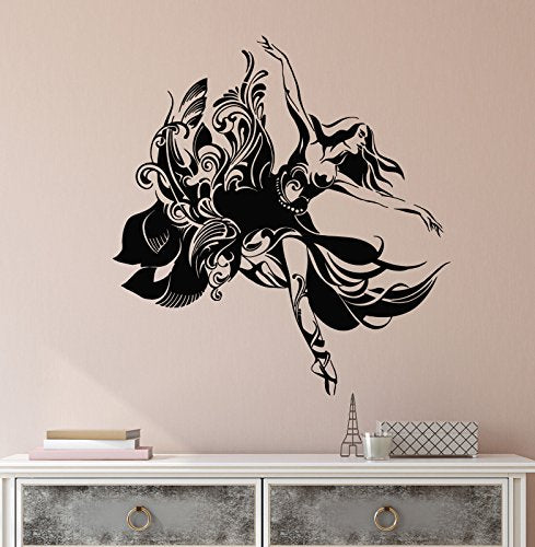 Vinyl Wall Decal Abstract Beautiful Ballet Dancer Ballerina Stickers 2301