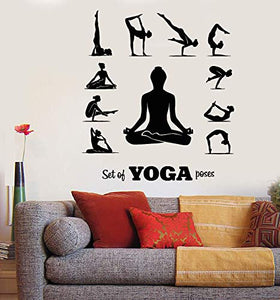 Vinyl Wall Decal Yoga Center Pose Meditation Girl Relaxation Stickers 1834