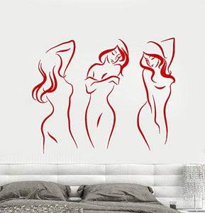 Vinyl Wall Decal Beautiful Sexy Naked Girls Decor for Adults Stickers 1685